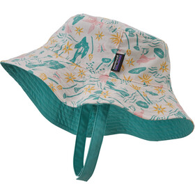 Patagonia Sun Bucket Hat Kids birds in the lotus/prima pink